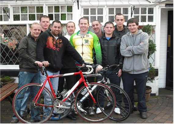 lands end to john o'groats cycle team